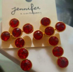 Jennifer and co beautiful cross drop earrings 😍